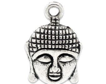 25 22x15mm Buddha charm pendants