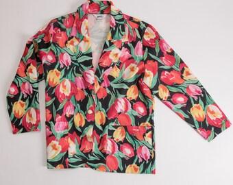 Vintage 80's Floral Blazer