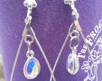 Silver Swarovski Crystal Earrings SB30