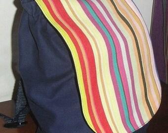 Backpack child Navy denim and canvas du Soleil®