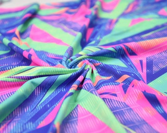 Multi Abstract - Spandex Fabric - Nylon Lycra - 4 Way Stretch - Swimwear Fabric - Activewear - Swimwear - Costume - BTY (Razor)