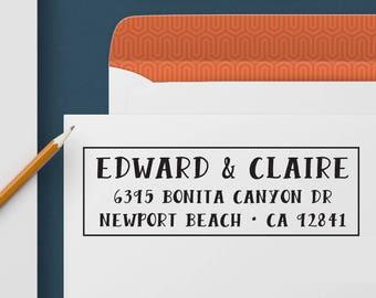 Custom Address Stamp 328 - Return Address Stamp, Self Inking Stamp, Custom Stamp, Personalized Address Stamp, Wedding and Housewarming Gift