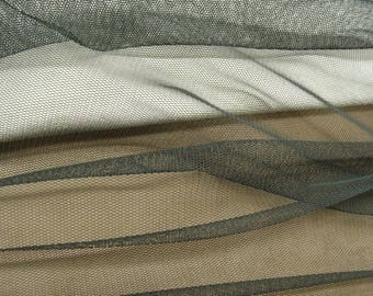FABRIC mesh stretch black 150 CM