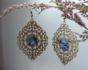 "Retro earrings ""Les sapphires"""