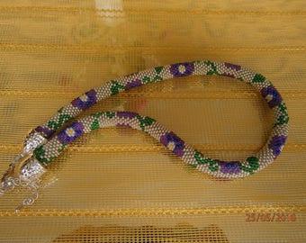 Floral summer necklace