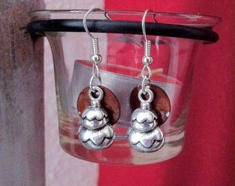 Religious mother of Pearl sequins earrings