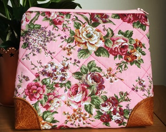 Quilted Floral Accessory Case