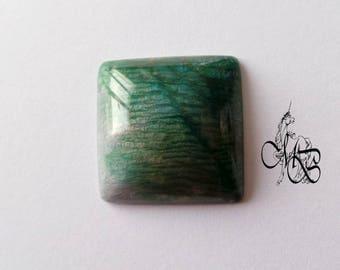 """Labradorite imitation"" polymer clay cabochon #4"