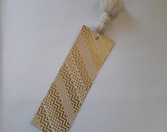 Bookmark Tassel, Glittering Bookmark, Sparkling Bookmark, Bookmark, Tassel, Golden Bookmark, Washi Tape, Glittering Paper, Gift for her,