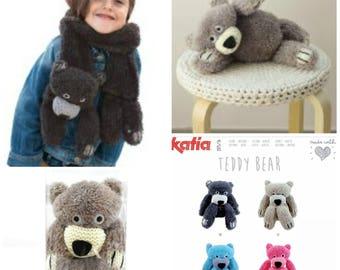 Creative Kit to knit TEDDY BEAR KATIA