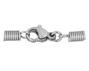 Spring clasp closure for cord 26x7mm - SC71845-