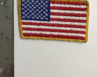 Vintage Retro American Flag Patch