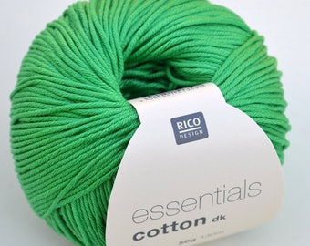 Color 66 green tracery, Rico Cotton DK.