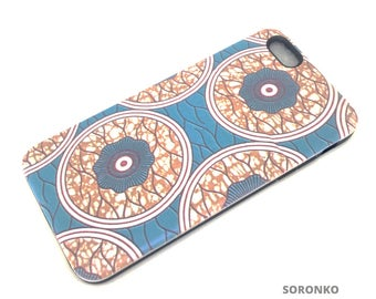 iPhone Case - White Circles on Blue