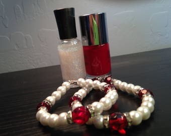White Ruby Bracelet