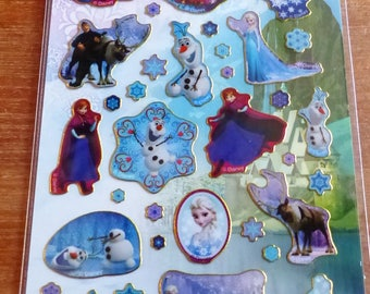 the snow Queen reusable stickers Board fun foiled stickers