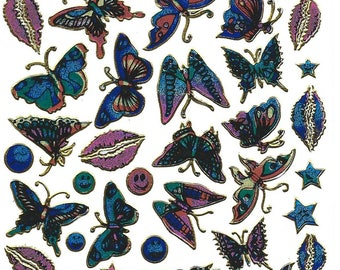 STICKERS SCRAPBOOKING decals beautiful Butterfly plate 13 cm x 10 cm