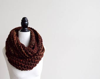 SEQUOIA Crochet Infinity Scarf | Crocheted Scarf | Infinity Scarf