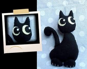 Plush little black cat APLUCHES