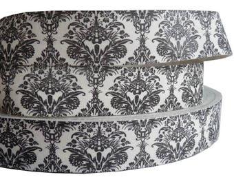 VINTAGE cotton floral flowers SHABBY seam 25mm BAROQUE print fabric Ribbon