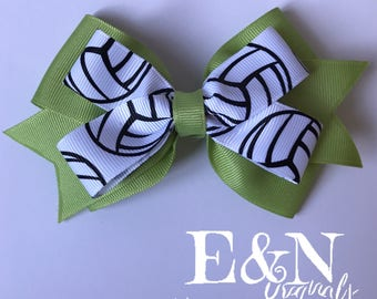 Custom volleyball hair bow - volleyball hair bows - volleyball bows - volleyball gifts - volleyball accessories - volleyball bow