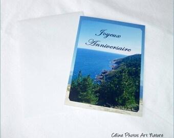 """Carte double d'anniversaire 10,5x15cm de Céline Photos Art Nature """"Voyage au bout du monde"""""""