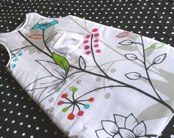 Sleeping bag white 3-15 months colorful patterns