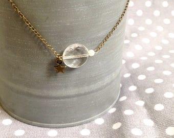 Transparent bead Choker necklace