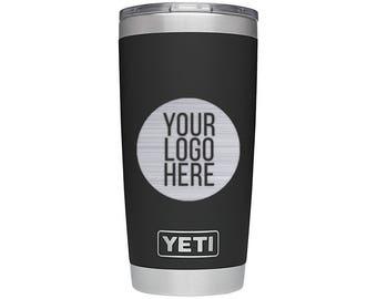 YETI Rambler Custom Personalized - YOUR LOGO - Black 20 oz 30 oz
