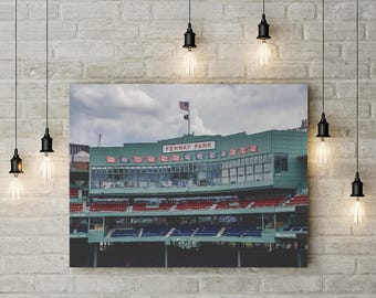 Fenway Park, Red Sox, baseball, Boston MA, Massachusetts, green monster, wall decor, photograph, canvas