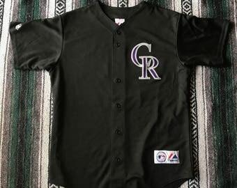 Majestic Authentic MLB Colorado Rockies Troy Tulowitzki Baseball Jersey Size L
