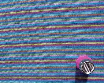 Fabric cotton stripes - blue - coupon 50 by 140 cm