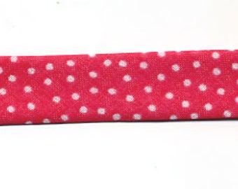 Fancy pink Fuchsia dots by the yard