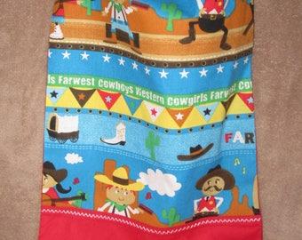 TOWEL Cowboy / western - baby, canteen, nursery, home...