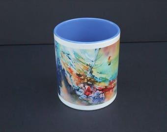 Mug flight of Demeter - ceramic from my watercolor