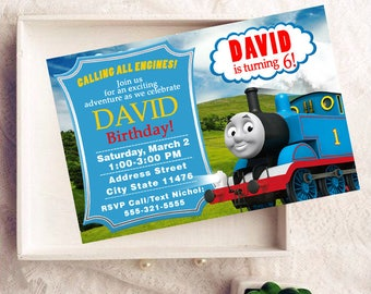 Thomas the Train, Thomas the Train Birthday Invitations, Thomas the Train Birthday, Thomas the Train Invitation, Thomas the Train Party