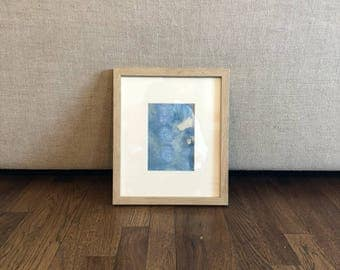 Original Abstract Painting, 11 x 13, Home Decor, Interior Design, Blue