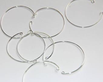 Thin metal Bangle bracelet holder silver
