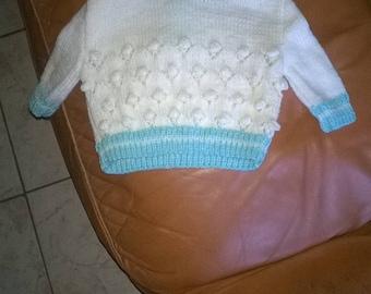 little baby sweater knitting handmade