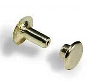 small open nickeled/10 tack rivets