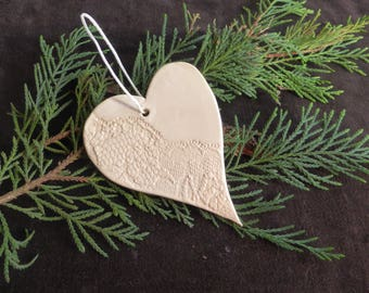Heart hanging in the 2 Christmas tree