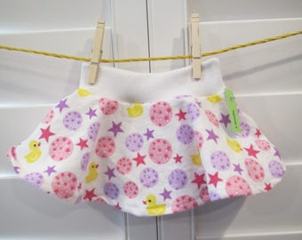Yellow Duck Baby Infant Skirt, Circle Skirt, Size 6 months