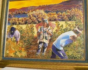 "painting ""Harvest to Portel the Corbières"" 50 x 65 hc"
