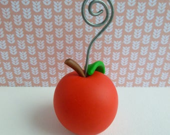 Photo holder Red Apple polymer clay