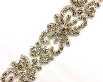 "2""  Crystal Beaded Rhinestone Trim Gold-Silver #GY6047"