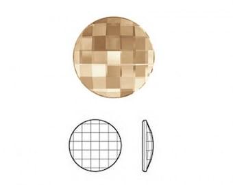 Cabochon Element Swarovski® 2035 Chessboard circular FB - 20 mm - Crystal Gol.Shadow Mr. HF - CABSW2017ORSH0609