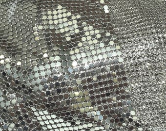 Weaving Metal plate (20x3mm) - mesh round and flat - Platinum - by 20cm - ACCHM215AG001