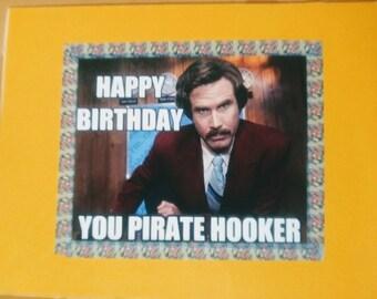 "4.5"" x 6"" Handmade funny birthday card"