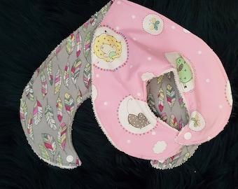 Baby/Toddler Girl Dribble/Bandana Bib Set