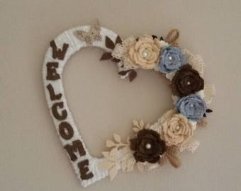 Shabby chic heart Garland